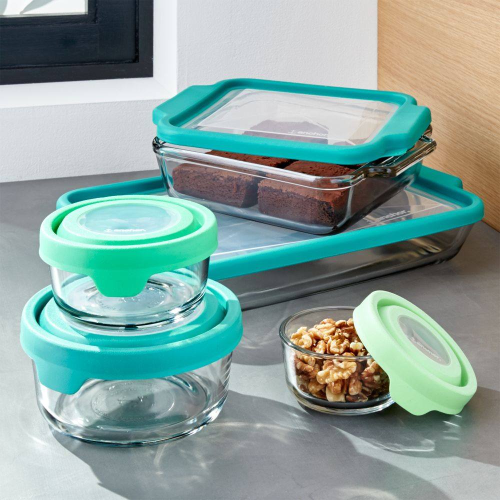 Anchor Hocking ® TrueFit 10-Piece Glass Bakeware Set - Crate and Barrel