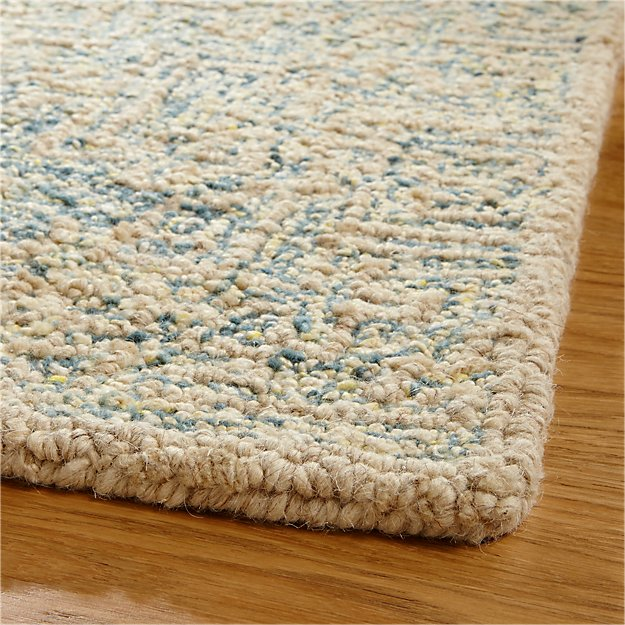 Trystan Blue Wool Blend 5 X8 Rug In Area Rugs Reviews