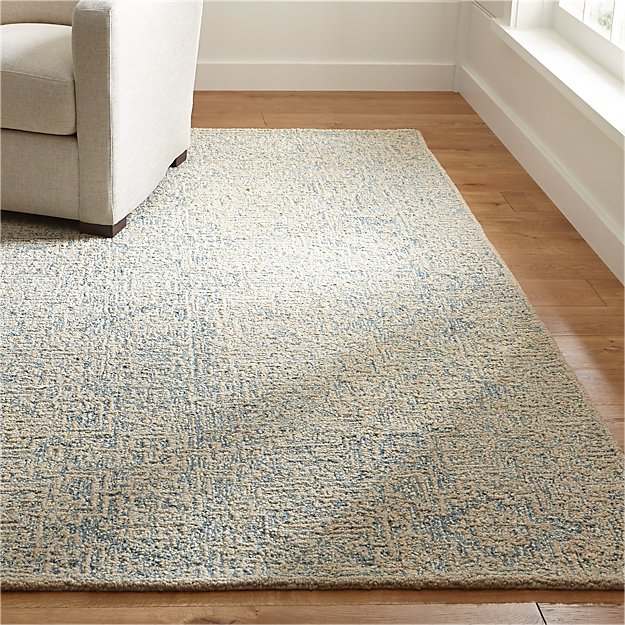 Trystan Blue Wool Blend Rug Crate And Barrel