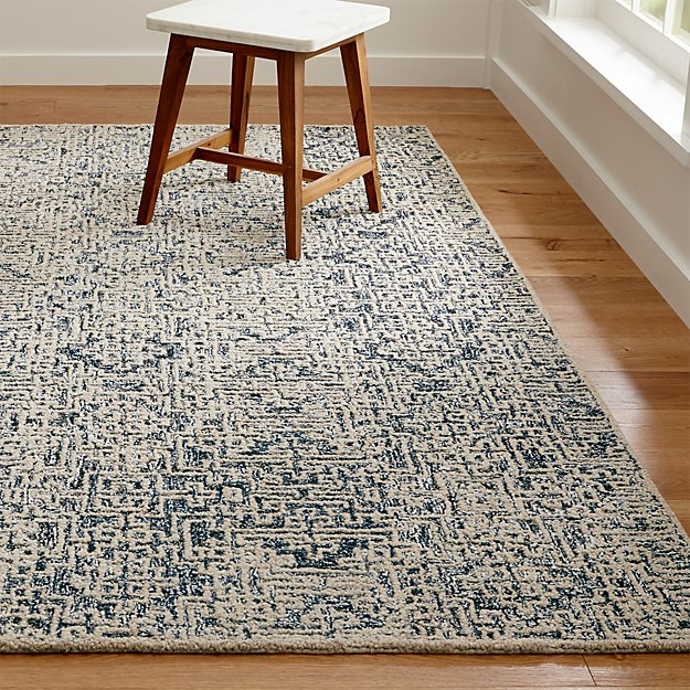 Trystan Indigo Blue Patterned Rug Crate And Barrel