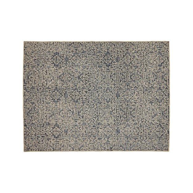 Trystan Indigo Wool-Blend 9'x12' Rug