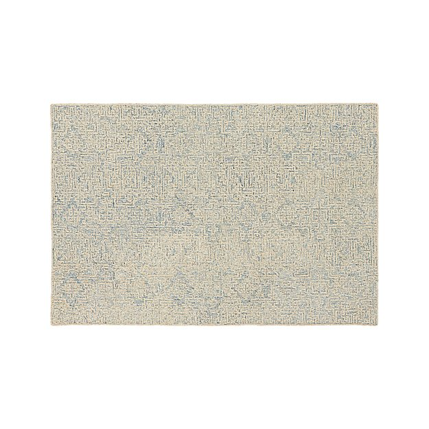 Trystan Sky Blue Wool-Blend 6'x9' Rug