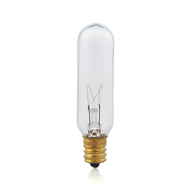 Tubular 15W Candelabra Light Bulb + Reviews | Crate and Barrel