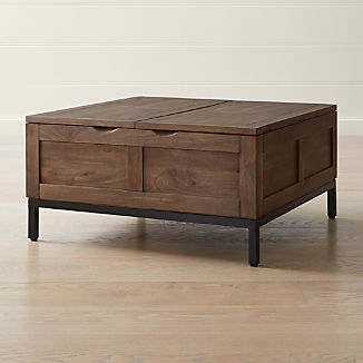 Solid Wood Coffee Tables Crate And Barrel