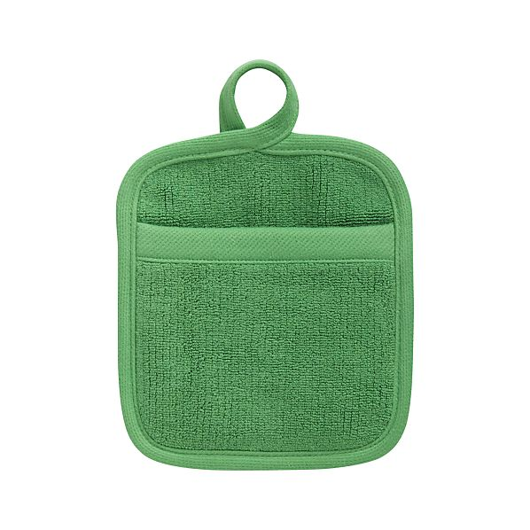 Tudor Holiday Green Potholder