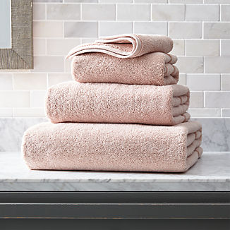 Organic 800-Gram Blush Turkish Bath Towels