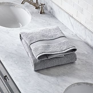 Turkish Cotton Grey Bath Towel