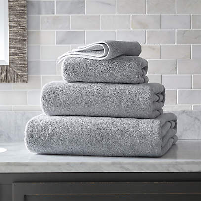 Organic 800 Gram Grey Turkish Bath Towels Crate And Barrel