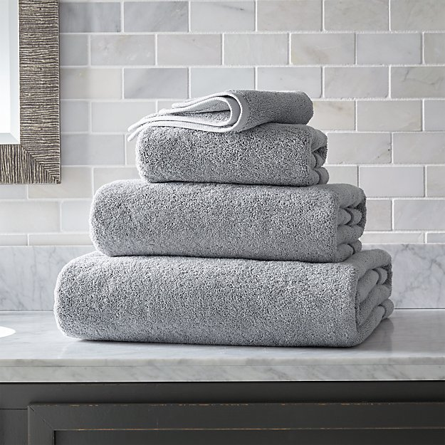 Turkish Cotton 800-Gram Grey Bath Towels