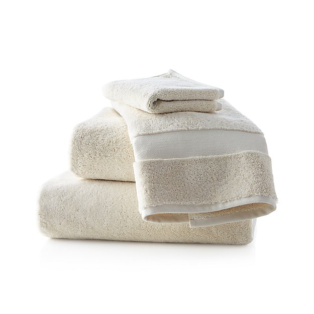 Turkish Cotton 800-Gram Oyster Bath Towels - Image 1 of 4