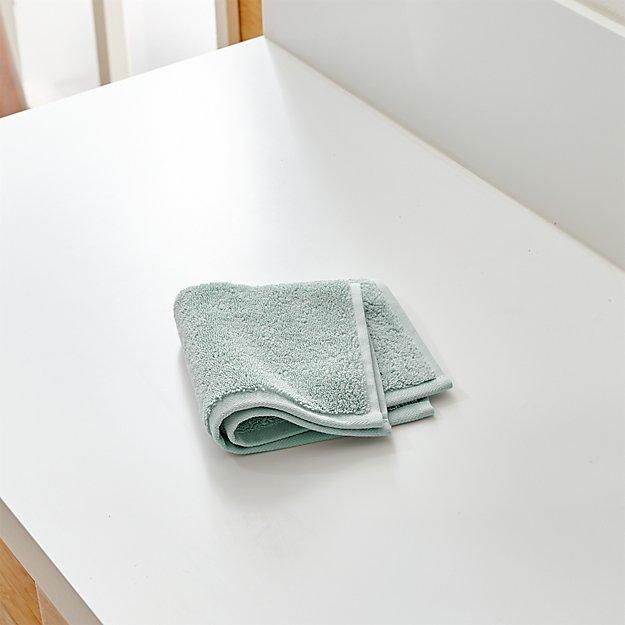 Turkish Cotton 800-Gram Spa Blue Washcloth