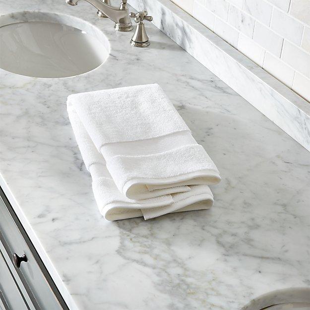 Turkish Cotton White Hand Towel