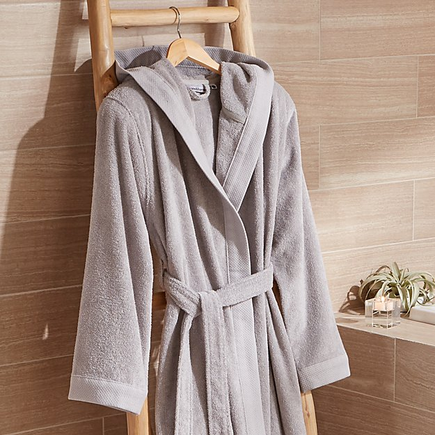 Grey Turkish Bath Robe - Image 1 of 4