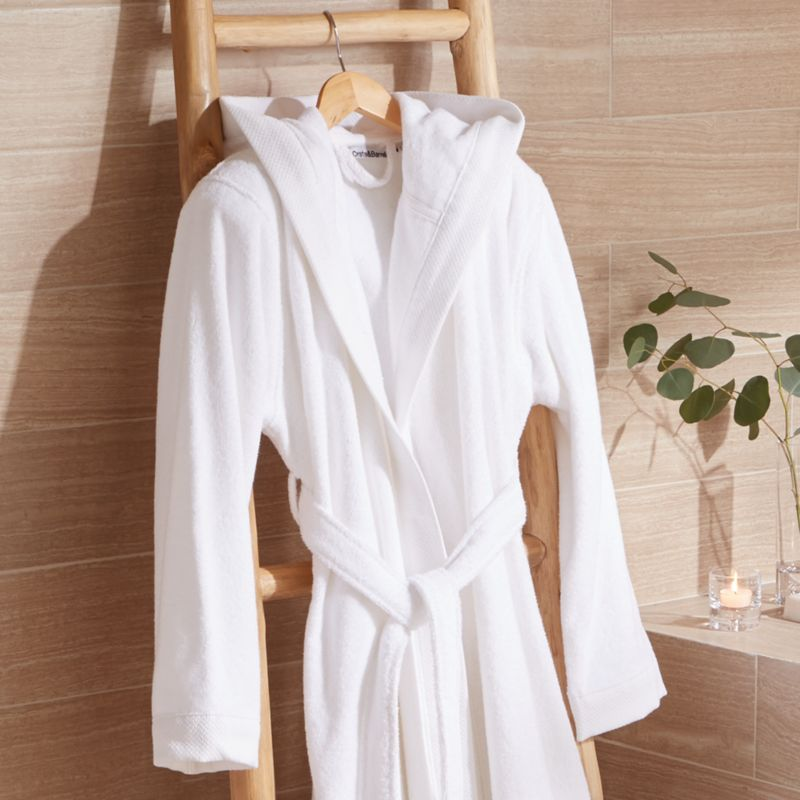 White Turkish Bath Robe Crate And Barrel Canada