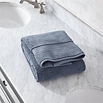 Turkish Cotton 800-Gram Evening Blue Bath Towel