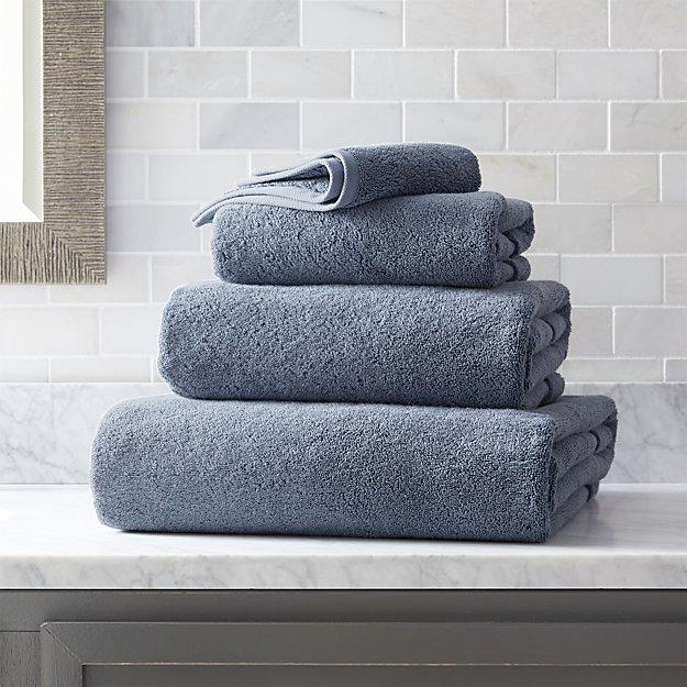 Organic 800-Gram Evening Blue Turkish Bath Towels - Image 1 of 7