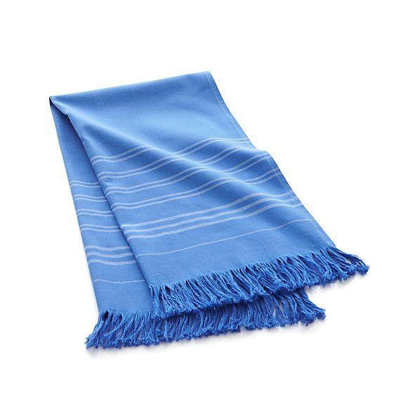Blue Turkish Guest Towel