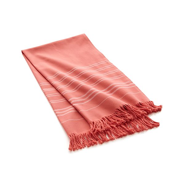 Coral Turkish Guest Towel