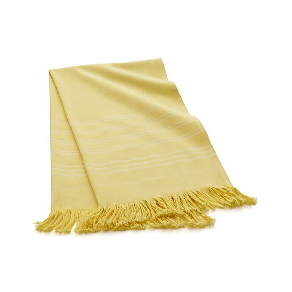 Yellow Turkish Guest Towel