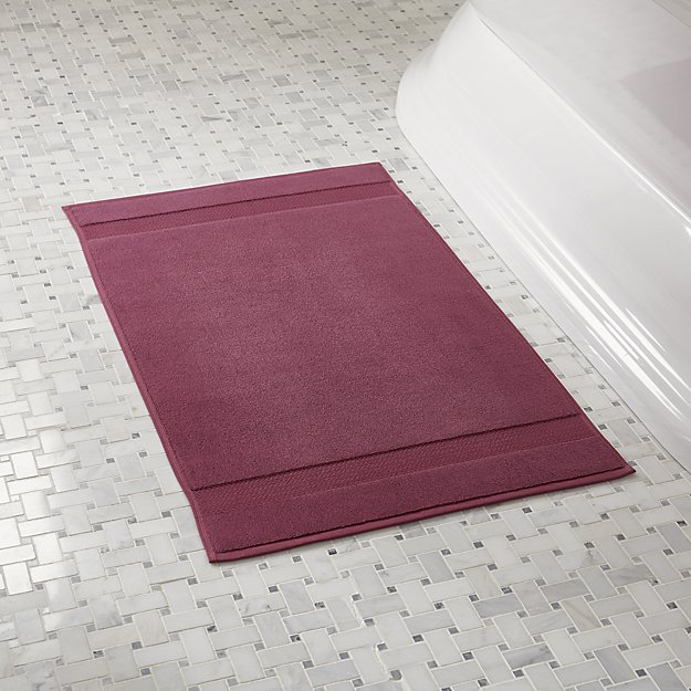 Organic Plum Turkish Bath Mat Reviews Crate And Barrel