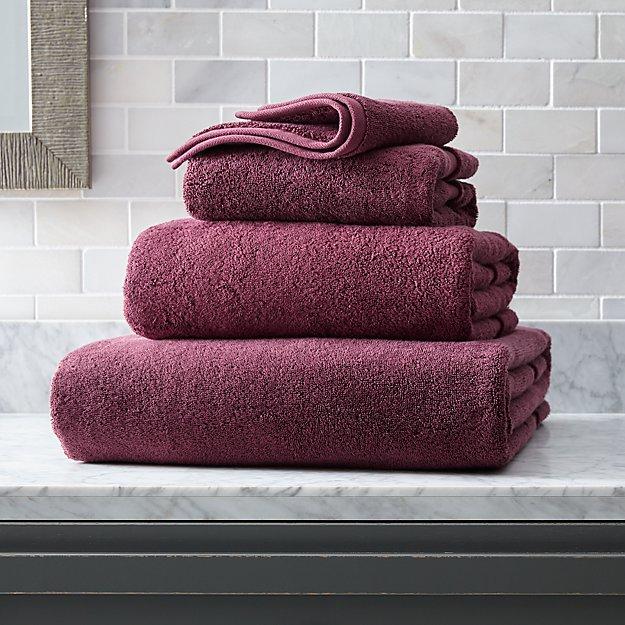 Organic 800-Gram Plum Turkish Bath Towels - Image 1 of 4