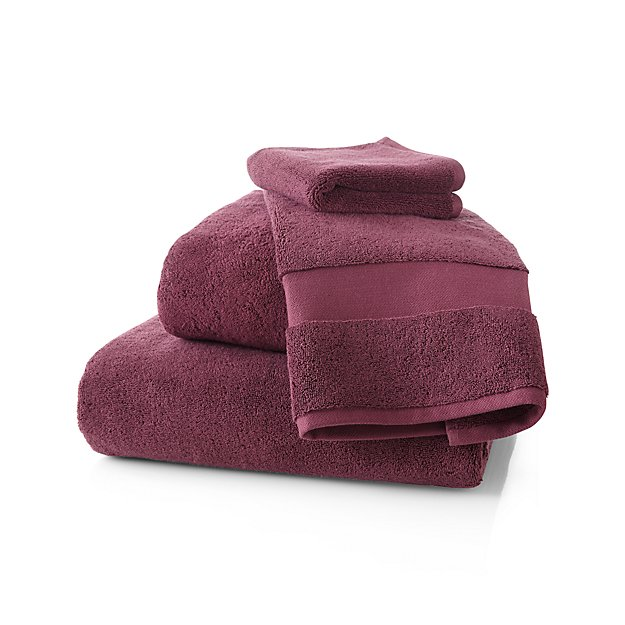 Turkish Cotton 800-Gram Plum Bath Towels - Image 1 of 4
