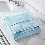 Turkish Cotton 800-Gram Sky Blue Bath Sheet