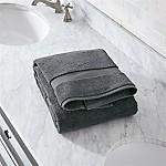 Turkish Cotton 800-Gram Slate Grey Bath Towel