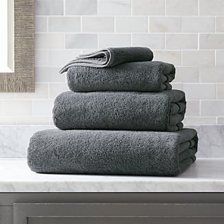 Organic 800-Gram Slate Grey Turkish Bath Towels