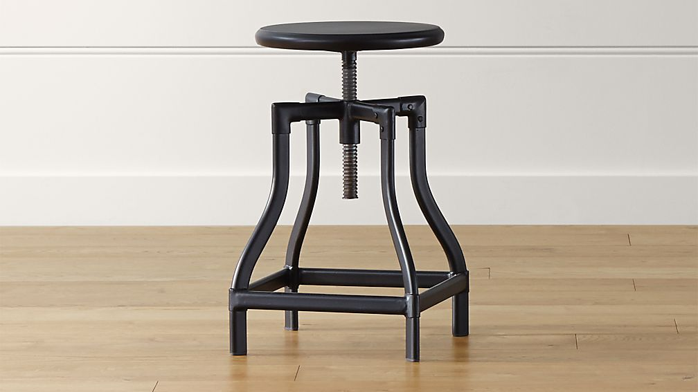 Turner Black Adjustable Backless Counter Stool Reviews