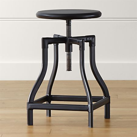 Swell Turner Black Adjustable Backless Counter Stool Pabps2019 Chair Design Images Pabps2019Com