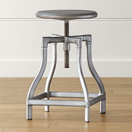 Groovy Turner Gunmetal Adjustable Backless Counter Stool Pdpeps Interior Chair Design Pdpepsorg