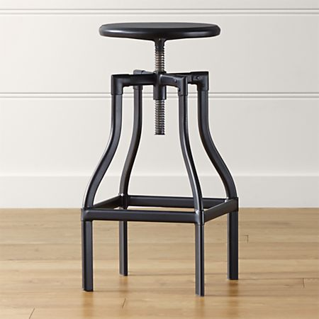 Fine Turner Black Adjustable Backless Bar Stool Machost Co Dining Chair Design Ideas Machostcouk