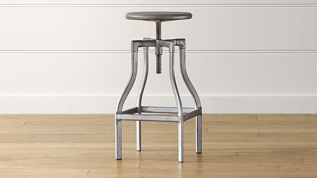 turner gunmetal adjustable backless bar stool crate and barr