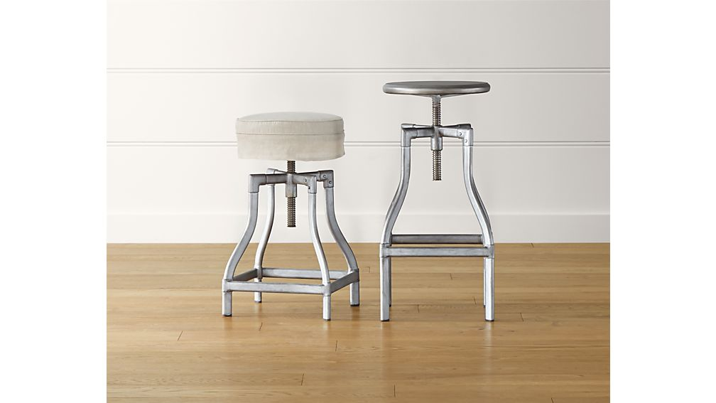 ... Turner Gunmetal Adjustable Backless Bar Stool ...  sc 1 st  Crate and Barrel : spin bar stools - islam-shia.org