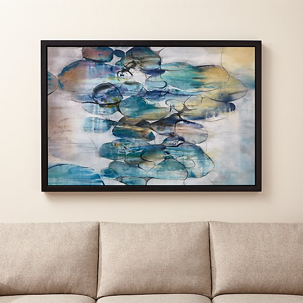 Turquoise Assemblage Print - Image 1 of 12