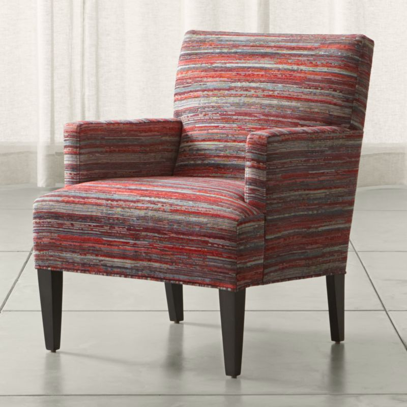Red Striped Accent Chair Reviews Crate And Barrel