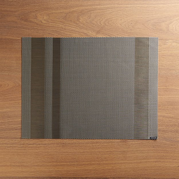 Chilewich ® Tuxedo Silver Vinyl Placemat