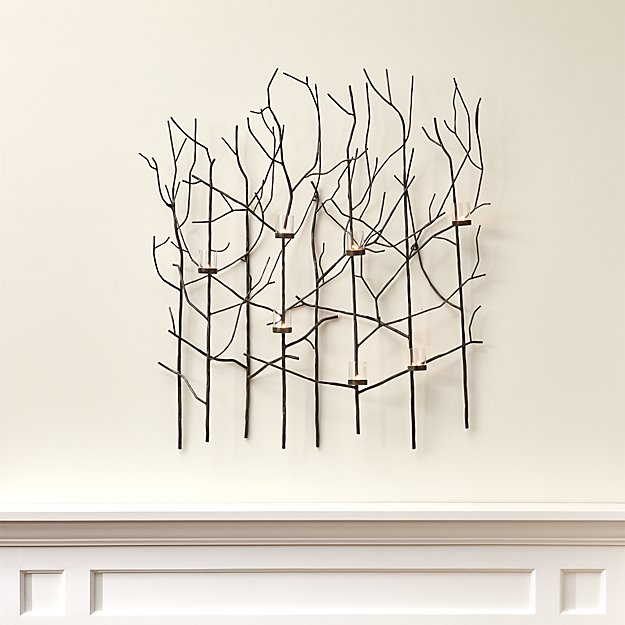 Twiggy Metal Wall Candle Holder + Reviews | Crate and Barrel