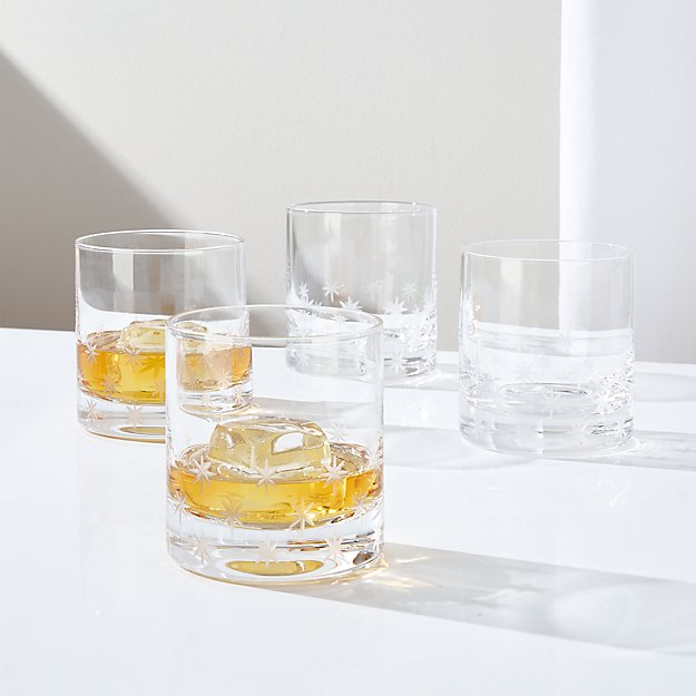 Twinkle Cut Double Old-Fashioned Glasses, Set of 4 - Image 1 of 2
