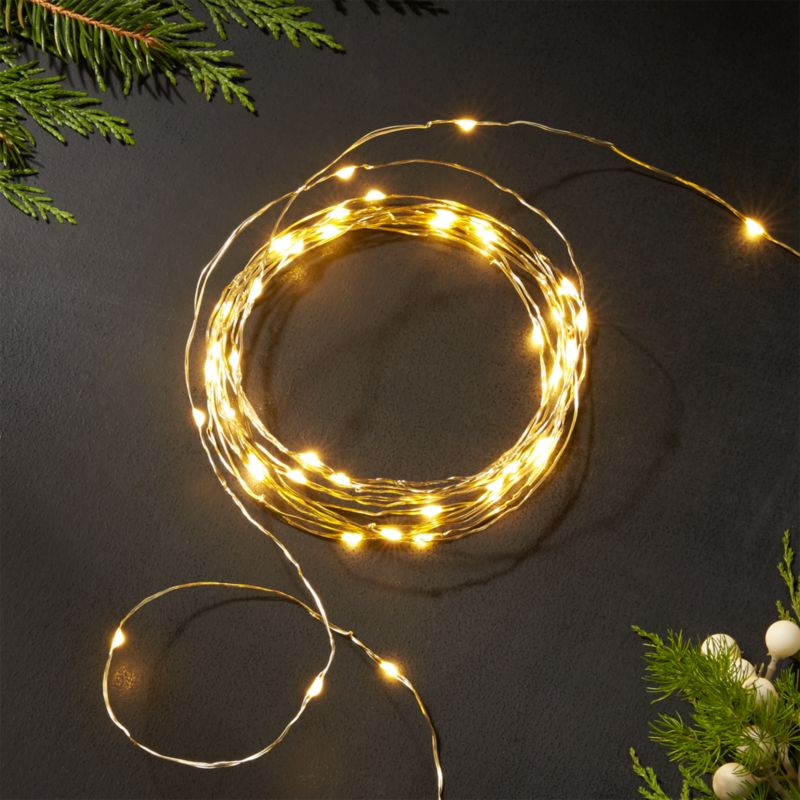 Twinkle Gold 10 String Lights Reviews Crate And Barrel