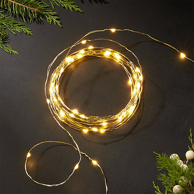 Twinkle Gold 10 String Lights Crate And Barrel