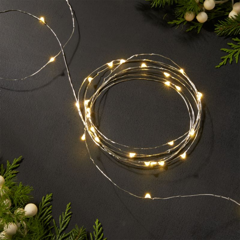 Twinkle Silver 10 String Lights Crate and Barrel