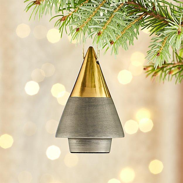 Two Tone Metal Tree Ornament
