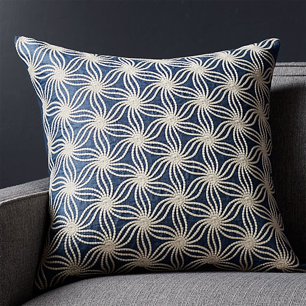 "Tyde Blue 20"" Pillow"