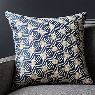 "Tyde Blue 20"" Pillow with Down-Alternative Insert"