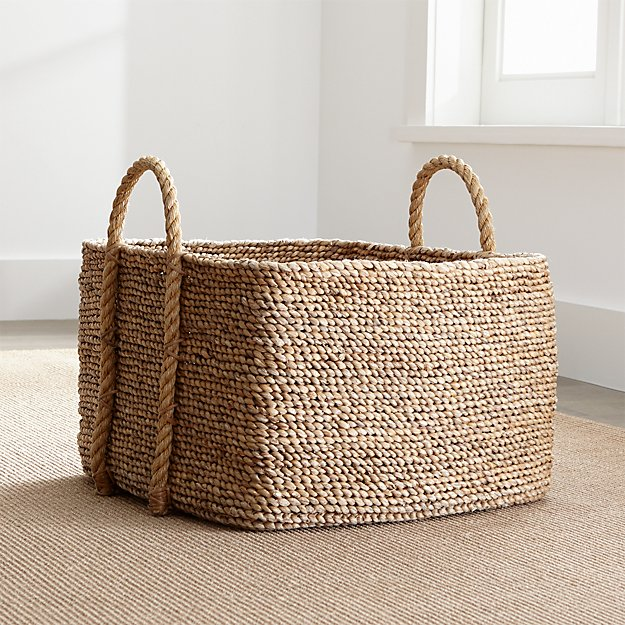 Tyler Square Basket With Rope Handle Low - Image 1 of 12