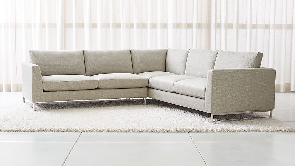 Tyson 2-Piece Right Arm Corner Sofa Sectional with Stainless Steel Base +  Reviews | Crate and Barrel