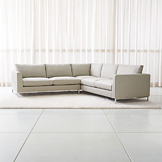 Tyson 2-Piece Right Arm Corner Sofa Sectional with Stainless Steel Base