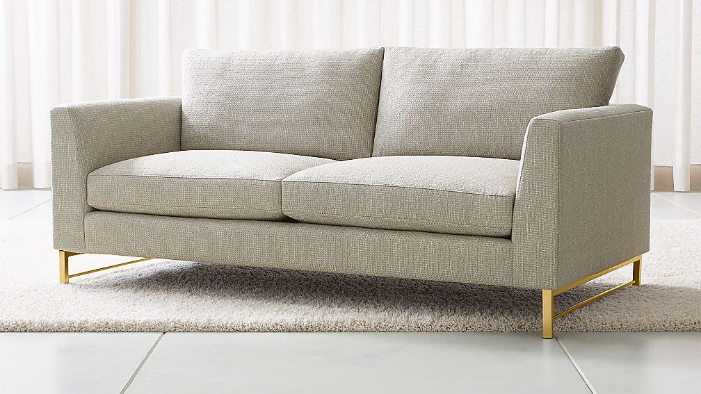 Tyson Apartment Sofa with Brass Base - Image 1 of 6